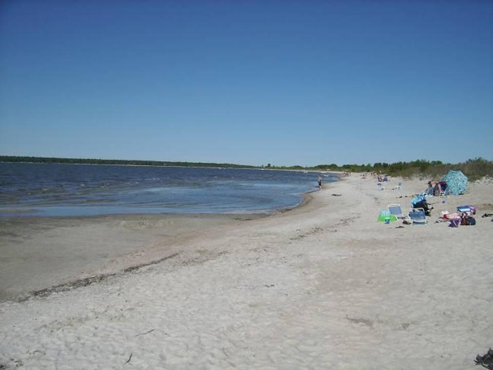 Hillside Beach Sand Dunes And Lagoon